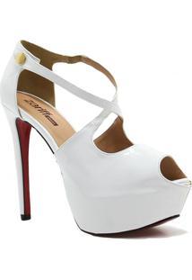 Sandália Zariff Shoes Meia Pata Noivas - Feminino-Branco