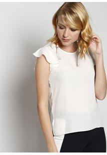 Blusa Lisa Com Botão - Off Whitemoiselle