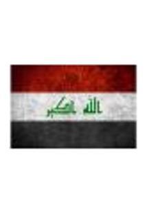 Painel Adesivo De Parede - Bandeira Iraque - 1025Pnm