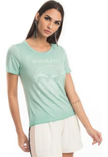 T-Shirt Malha Com Aplicações