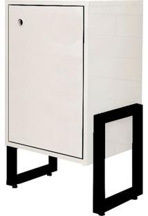 Mesa De Cabeceira Wooli 1 Porta Branco - Fit Mobel