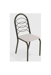 Cadeira Holanda Bronze/Branco De Metal (Par) Kappesberg
