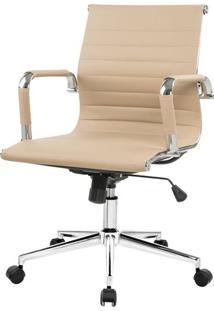Cadeira Charles Eames Baixa Fendi Claro Base Cromada - 57891 - Sun House