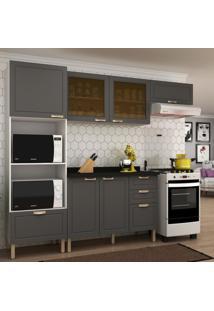 Cozinha Completa 5 Peã§As Americana Multimã³Veis 5670 Branco/Grafite - Branco/Incolor - Dafiti