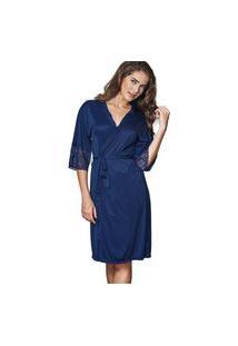 Robe Roupão Nupcial Demillus 31005 Marinho Azul