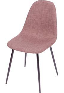 Cadeira Robin Linho Marrom Com Base Preta - 43087 - Sun House