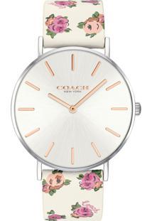 Relógio Coach Feminino Couro Branco - 14503297