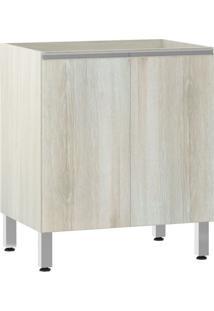 Módulo Cozinha Balcão Sem Tampo Lis 2 Portas - 70Cm - 2507/173 - Legno Crema - Prime Plus - Luciane