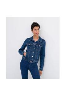 Jaqueta Jeans Básica De Moletom   Marfinno   Azul   Gg