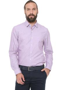 Camisa Richards Reta Traveller Roxa