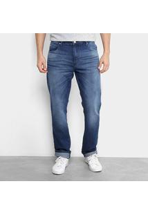 Calça Jeans Lacoste Live Masculina - Masculino-Azul