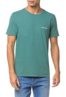 Camiseta Ckj Mc Logo Peito - Verde - P