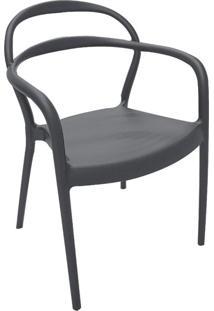 Cadeira Sissi Com Braços Grafite