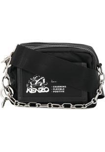 Kenzo Bolsa Transversal Com Estampa Kung-Fu Rat - Preto