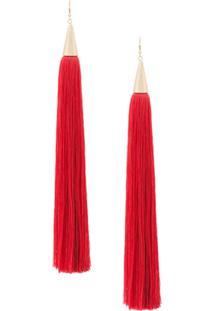 Eddie Borgo Long Tassel Earrings - Vermelho