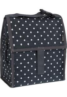 Bolsa Térmica Packit Polka Dots Preto 25X22Cm - 22131
