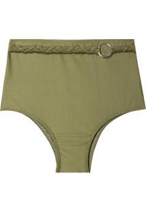 Calcinha Rosa Chá Audrey Military Green Beachwear Verde Feminina (Capulet Olive, Gg)