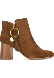 See By Chloé Ankle Boot 'Louise' Média - Marrom