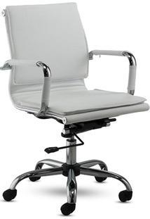 Cadeira Presidente Office Valencia Baixa Branca - Rivatti