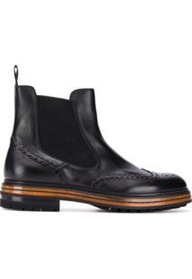 Santoni Derby Ankle Boots - Preto