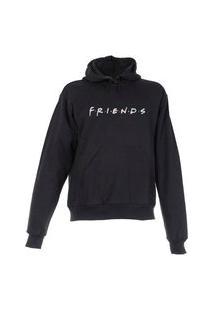 Blusa De Frio Moletom Friends Plus Size Preta