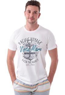 Camiseta Vista Mare Pacific Voyage Slim Fit Branca
