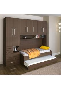 Dormitório De Solteiro Transversal Sem Cama 1326S Esquerdo Noce Málaga