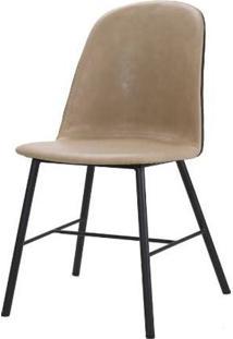 Cadeira Elena Courino Nude Base Preto 83Cm - 62855 - Sun House