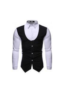 Camisa Masculina Classic Design - Preta E Branca