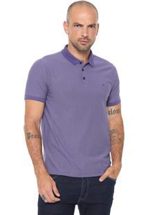 Camisa Polo Aramis Textura Roxa
