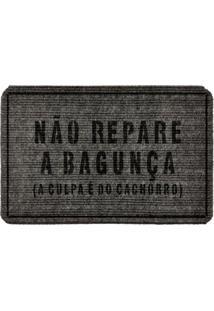 Capacho Carpet Não Repare A Bagunça Cinza Único Love Decor