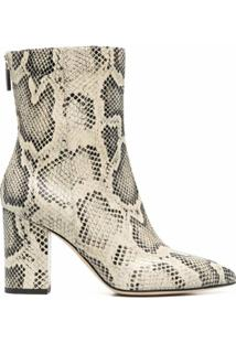 Paris Texas Embossed 85Mm Ankle Boots - Neutro