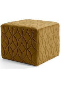 Puff Decorativo Para Sala De Estar Quadra Tressê Veludo B-260 - Lyam Decor