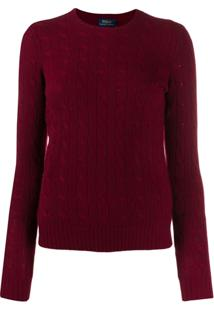 Polo Ralph Lauren Cable-Knit Fitted Sweater - Vermelho