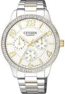 Relógio Analógico Tz28280S- Prateado & Dourado- Citicitizen