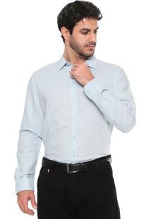 Camisa Linho Forum Smart Azul