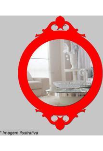 Espelho Retro- Espelhado & Vermelho- 30X22X5Cm- Cia Laser