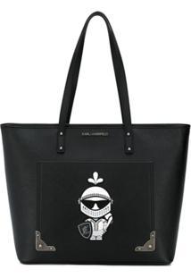 Karl Lagerfeld Bolsa Tote K/Treasure - Preto