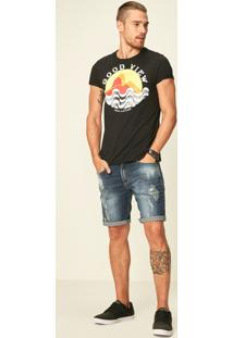 Bermuda Jeans Slim Enfim