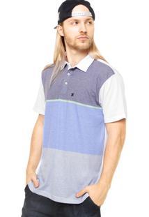 Camisa Polo Manga Curta Hurley The Nomad Cinza