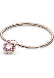Bracelete Crie & Combine Rose Contos Reais (Fecho Cadeado)