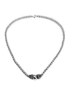 Corrente Prata Mil Bolinha Bali De Prata Prata - Prata/Prata Velho - Feminino - Dafiti