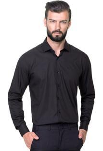 Camisa Hugo Rossi Básica Preta - Masculino