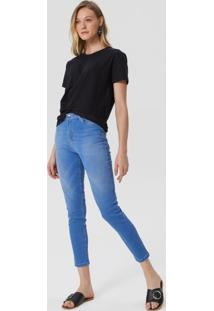 Calça Jeans Skinny Cintura Média