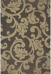 Papel De Parede Vinílico Maya Wallpaper 0,53 X 9,5M Marrom/Dourado
