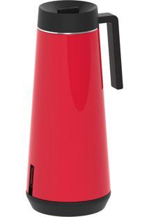 Garrafa Térmica Tramontina Exata Em Aço Inox Vermelho Com Infusor 1 L 61644106