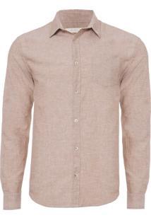 Camisa Masculina Saudade - Marrom