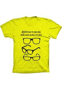 Camiseta Baby Look Lu Geek Visão Da Vida Amarelo