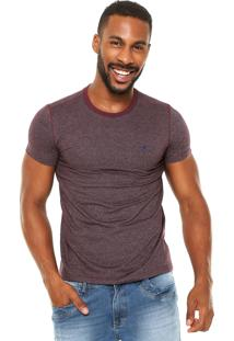 Camiseta Malwee Textura Vinho