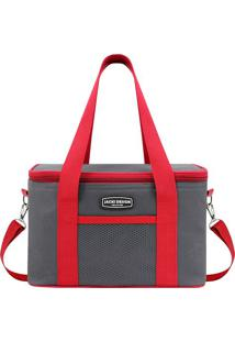 Bolsa Térmica Com Bolsos- Vermelha & Cinza- 28X17X5Cjacki Design